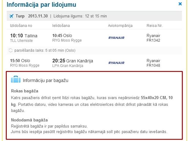 Pasūtīt Ryanair bagāžu